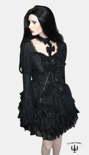 Dark romantic Gothic Lolita Kleid RQ BL in schwarz mit Rüschen Gr 34