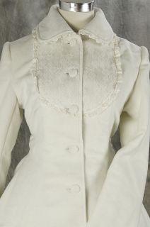 21 Gothic Lolita weiß white Stickerei Jacke winter Mantel Coat