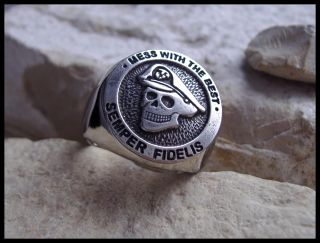 AJS © US MARINE RING NAVY SEAL SIEGELRING USA   D25