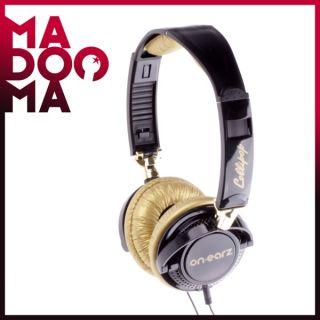 OnEarz LOLLIPOP Black/Gold Kopfhörer ON EARZ Headphones Schwarz NEU