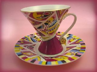 3375) Limoges Porzellan Sammeltasse *MODERN ART *