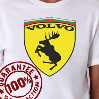 Volvo Ferrari Funny Rally Racing T Shirt #696