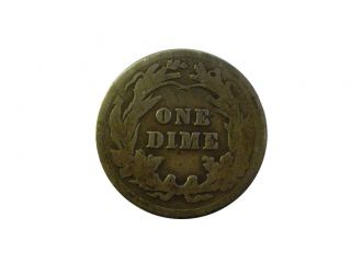 DED 1021 ALT SILBER 900 Barber One Dime10 cent 1911 Ag AMERICA USA