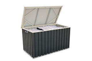 Tepro Aufbewahrungsbox aus Metall 570l Gartenbox Gerätebox