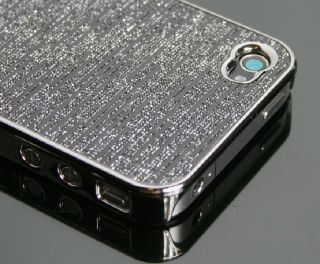 iPhone 4 4G Hülle Hart Cover Tasche Case Schale Chrom