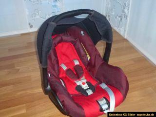 Babyschale Maxi Cosi Citi SPS rot schwarz mit Sonnendach und