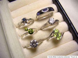 KONVOLUT 800 835 925 Silber Ring Art Deco Amethyst Chromdiopsid Saphir