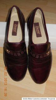 Everest Herren Business Slipper Schuhe Gr. 43,5 Leder bordeaux