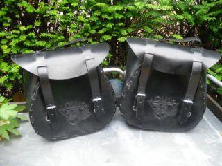 leder packtaschen+sattel taschen+rocker+chopper+harley