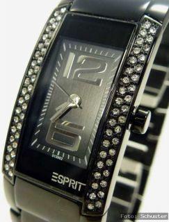 Esprit Damenuhr Damen Uhr NEU Striking Vibe Night schwarz Strass