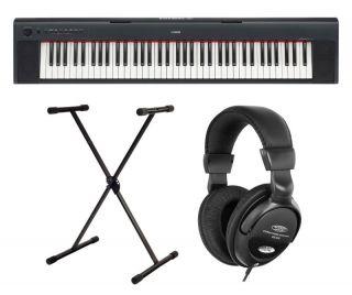 Yamaha NP 31 Portalbe Piano schwarz & Ständer & Kopfhörer Stage