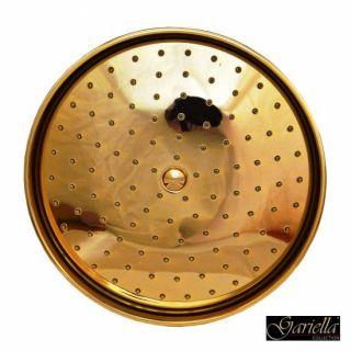 Regenbrause in Gold mit Antikalkdüsen und 40cm Wandarm / Retro