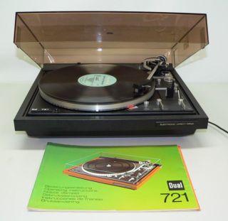 DUAL CS 721 Vintage Automatic DD Turntable SHURE V 15 Typ III L M