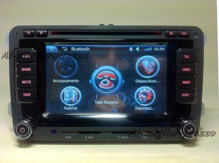 AUTORADIO NAVIGATORE HD 6,5 GPS VW VOLKSWAGEN DVB T TV