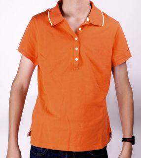 TOMMY HILFIGER Polo Shirt Orange GR L/G #X711