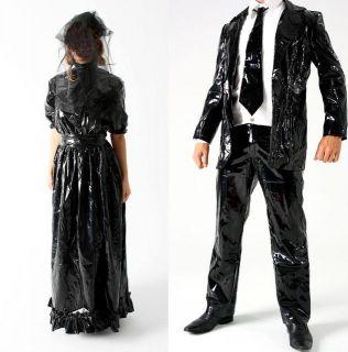 Latex Brautkleid Wedding Dress Catsuit Lack Hochzeit !!