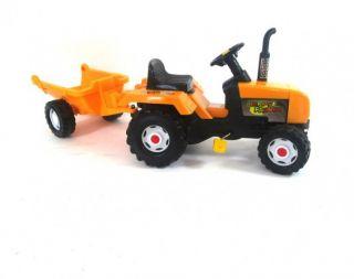 Traktor Kindertraktor Kinderbagger Bagger orange 716 b NEU OVP