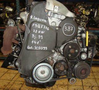 Motor Renault Laguna 1,9DTI MotorkennbuchstabenF9Q716 72KW & Bj.99
