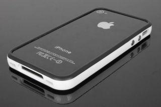 Original iGard® iPhone 4/4S Black Line Design Bumper Case