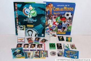 Panini 2 x KOMPLETTSATZ COMPLETE SET + ALBUM WM WC 2006 + World Cup