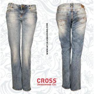 Cross Jeans Carmen 409 079 hellblaue Damenjeans mit Waschung gerade