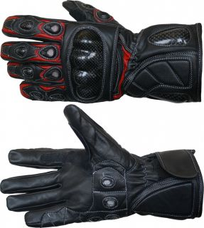 Motorradhandschuhe Leder Motorrad Handschuhe Biker Lederhandschuhe Rot