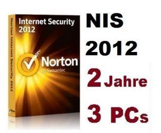 NIS 731 Tage Norton Internet Security 2012 für 2 Jahre 3 PCs