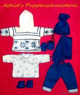 Puppenkleidung für 36 cm z. B. my first Baby BOY KAPUTZENJACKENSET Nr