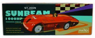 Sunbeam, Rennwagen aus Blech rot, St.John, Blechspielzeug