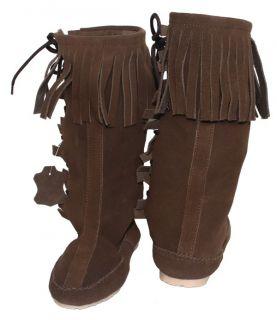 Western Indianer Cowboy Stiefel Trachtenstiefel schuhe leder Karneval