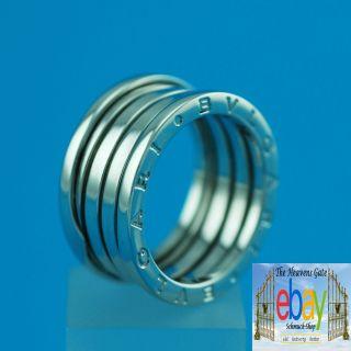 BULGARI BVLGARI B ZERO1 Ring aus 750er Weißgold Größe 57 Unisex