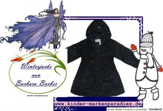 NEU Barbara Farber Winterjacke Mädchenjacke Jacke Mantel dunkelblau