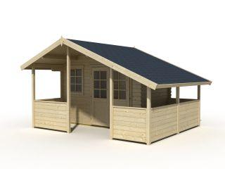 Gartenhaus Gerätehaus 420x340 (320x220)cm, 28 mm Bohlen, Doppeltür