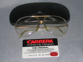 KULT Carrera Porsche Design Brille Original gold