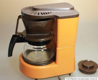 Original 70er Melitta Kaffeemaschine Aromaboy   orange   Panton   0,3l