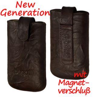 Bugatti Leather Unique tobacco Tasche f Apple iPhone 4S Case