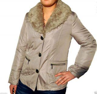 Damen Jacke mit Webpelz Kragen ash Gr. 38 46 Artikel Gafna