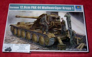 WWII german deutscher 12,8cm Pak 44 Waffenträger Krupp 1 in 1:35