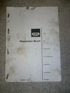 Hatz Diesel Reparaturanleitung Wartungsanleitung E71 75 79 780 785 786