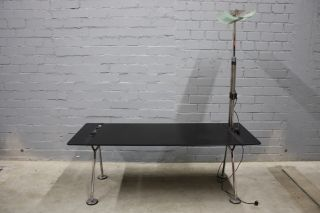Original Tecno Nomos Foster Sir Norman Schreib Tisch + Lampe Alf Kanal