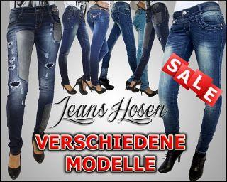 Damen Jeans Röhrenjeans Hose verschiedene Modelle Gr. 34,36,38,40,42