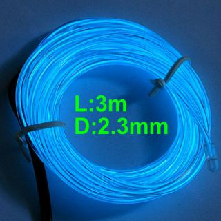 3M Flexible Neon Light Glow EL Wire Rope Strip + Driver