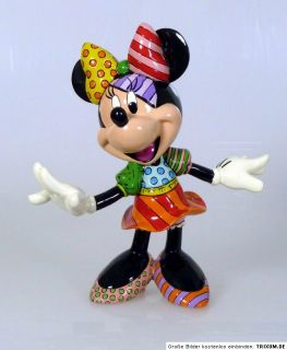 ROMERO BRITTO   DISNEY POP ART   Figur Minnie Mouse Höhe 20,5 cm