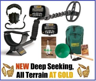 GARRETT AT GOLD METAL DETECTOR WITH 8 FREE ACCESSORIES