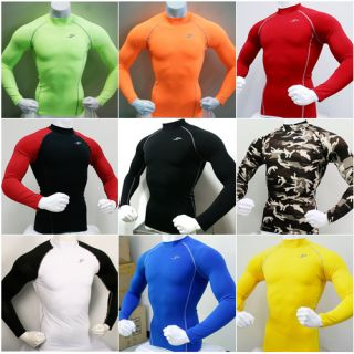 New Mens Compression Under Base Layer Top Tight Long Sleeve T Shirts
