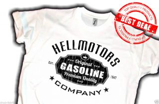 US Car Hot Rod T Shirt V8 Muscle Car,Hellmotors Gasoline,Biker chopper