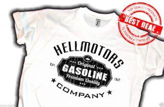 US Car Hot Rod T Shirt V8 Muscle Car,Hellmotors Gasoline,Biker chopper