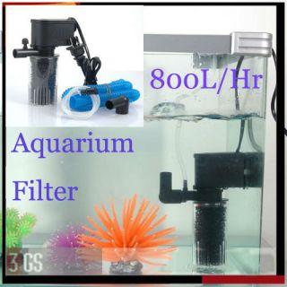 Oxygen Adding Water Clean Quiet 800 L H Aquarium Fish Tank Internal