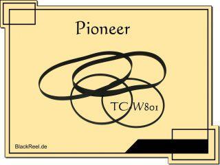 Pioneer CT W801 TCW801 Riemen rubber belts Kassettendeck Cassette Tape