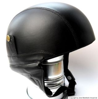 HELM MOTORRAD JET CAP BIKE BRAINCAP TRIKE OPEN FACE RETRO LEDER